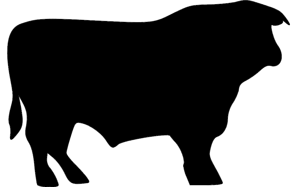 Silhouette Bull Free DXF File