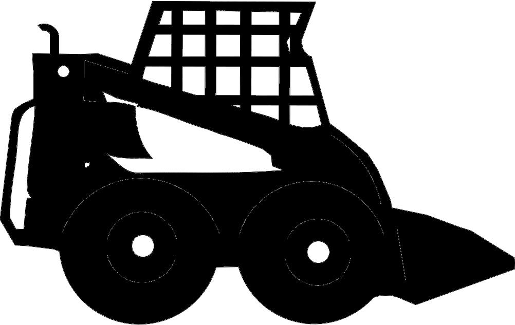 Skidsteer Vehicle Free DXF File