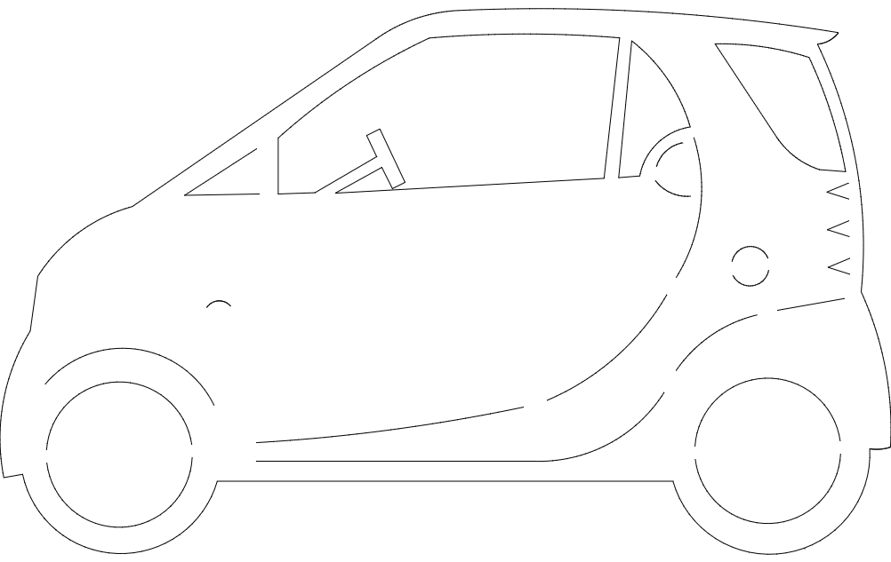 Smart Car Free DXF File