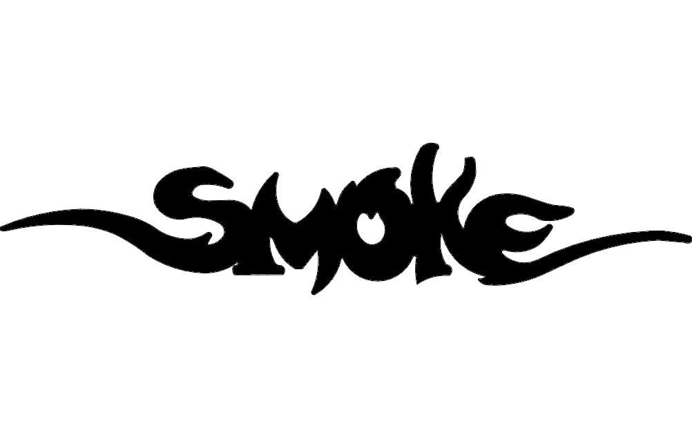 Smoke Free DXF File