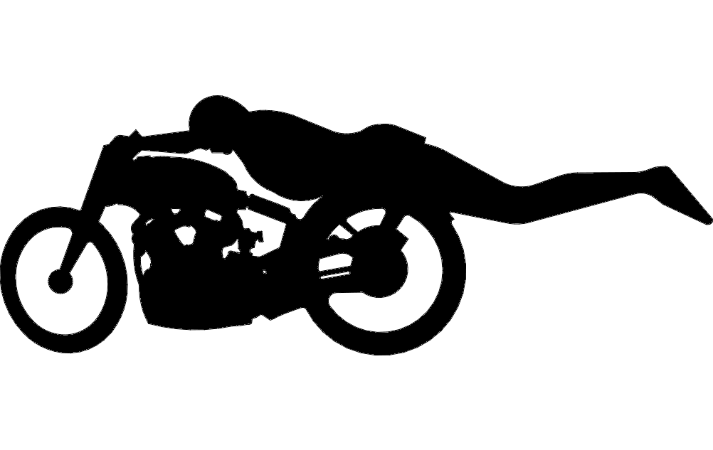 Speed Racer Bike Free DXF File