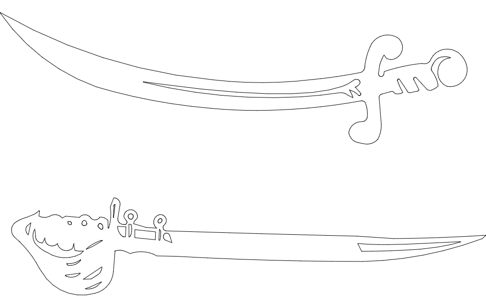 Sword 2 Free DXF File