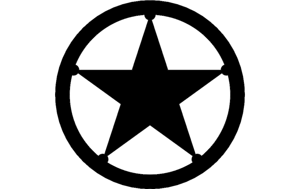 Texas Star Free DXF File