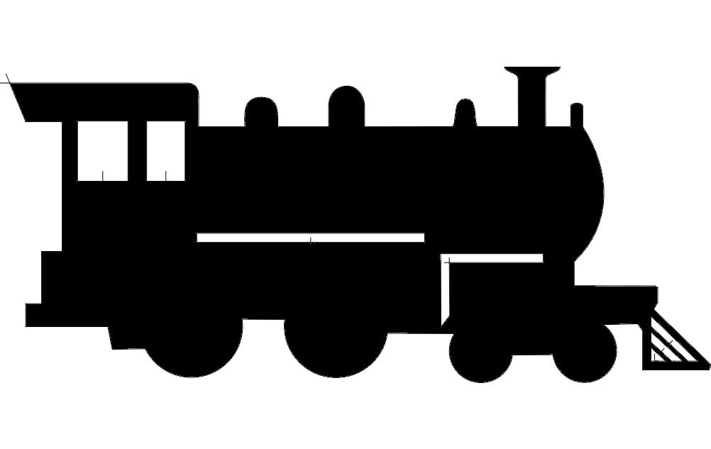 Train Silhouette Free DXF File