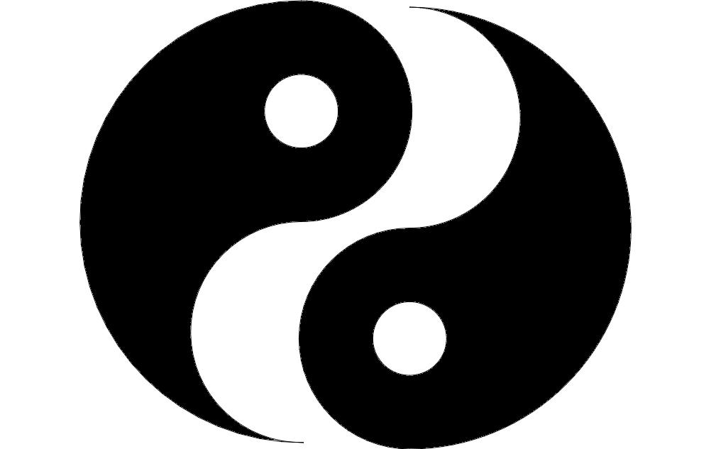 Ying Yang Design Free DXF File