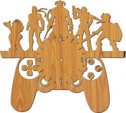 Gaming Clock Download For Laser Free CDR Vectors Art