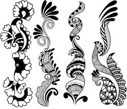Indian Style Flowers Download For Laser Engraving Machines Free CDR Vectors Art