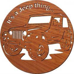 Jeep Car Wall Clock Download For Laser Cut Plasma Free CDR Vectors Art