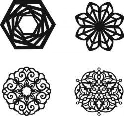 Mandala Silhouette Download For Laser Cut Plasma Free CDR Vectors Art