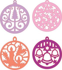 Orbs Hanging From The Pine Tree Download For Laser Cut Cnc Free CDR Vectors Art