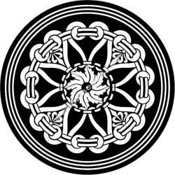 Mandala Arabic Inspired Round Geometric Pattern Free DXF File