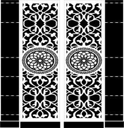 Mandala Motifs Doordownload For Cnc Cut Free DXF File