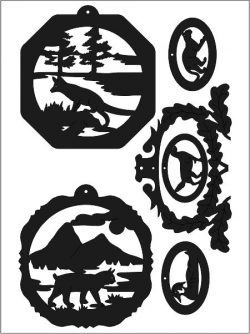 Animal Sticker Free DXF File