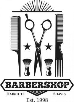 Barber Shop Logo 1998 Free DXF File
