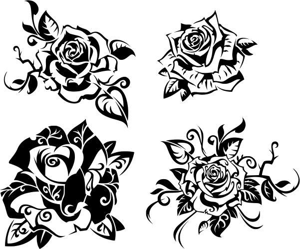 Beautiful Rose Free DXF File