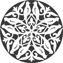 Bird Decorative Circle Free DXF File
