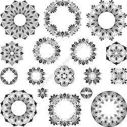 Circle Cali Design Free DXF File