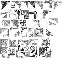 Decorative Corner Pattern Free DXF File
