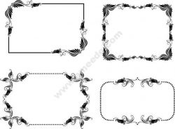 Decorative Frame With Butterfly Wings Free DXF File