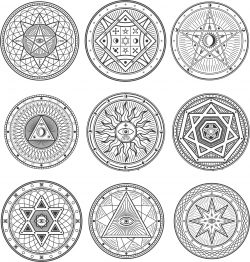 Occult Esoteric Symbols Free DXF File