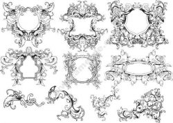 Ornament Borders Set Free DXF File