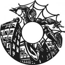 Spiderman Wall Clock Free DXF File
