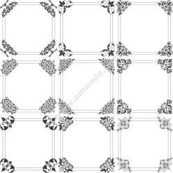 Square Decorative Frame Free DXF File