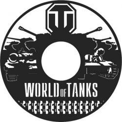 Tank Wall Clock Free DXF File