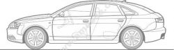The Luxurious Lines Of The Car Tour Free DXF File
