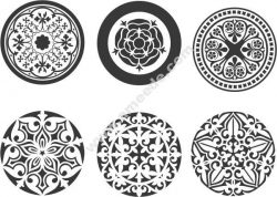 Vector Circle Ornament Free DXF File