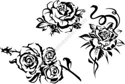 Vector Decorative Rose Free DXF File