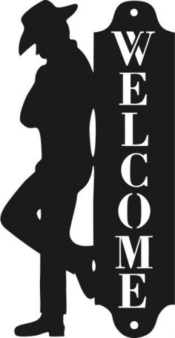 Welcome To The Cowboy Bar Free DXF File