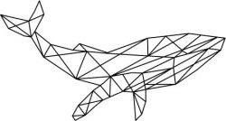 Blue Whale Art Download For Laser Cut Plasma Free DXF File