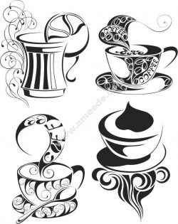 Coffee Icon Free DXF File