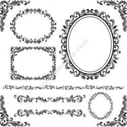 Decorative Contour Pattern Free DXF File