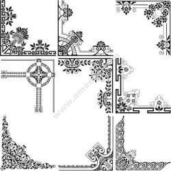Decorative Corner Free DXF File