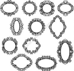 Decorative Frame 22 Free DXF File