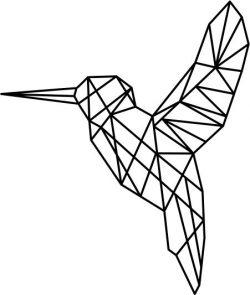 Hummingbird Art Download For Laser Cut Plasma Free DXF File