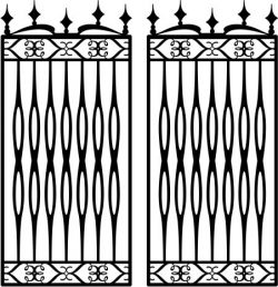 Iron Barn Fence Download For Laser Cut Plasma Free DXF File