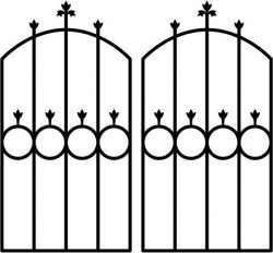 Iron Door Shaped Circle Download For Laser Cut Plasma Free DXF File