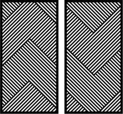 Striped Art Partition Download For Laser Cut Plasma Free DXF File