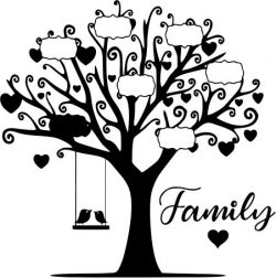 The Tree Shows The Name Of Family Members Download For Laser Cut Plasma Free DXF File