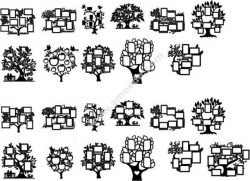 Tree Photo Frame Set Free DXF File