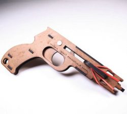 Wooden Jenga Pistol Download For Laser Cut Cnc Free DXF File