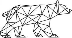 Artistic Polar Bear Download For Laser Cut Plasma Free CDR Vectors Art