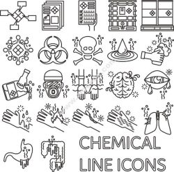 Chemical Icons Free CDR Vectors Art