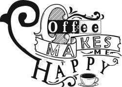 Coffe Make Me Happy Free CDR Vectors Art