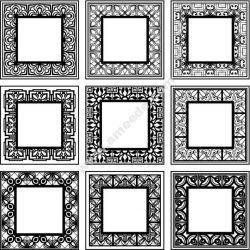 Decorative Frame Square Free CDR Vectors Art