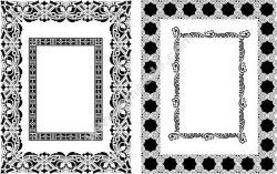 Decorative Rectangle Frame Free CDR Vectors Art