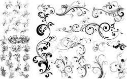 Floral Swirl Free CDR Vectors Art